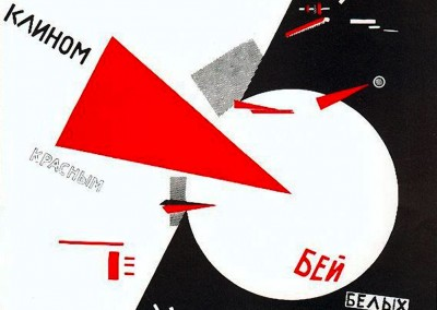 El Lissitzky.Derrote os brancos com a cunha vermelha, 1919.
