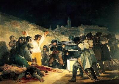 Goya, Francisco. O fuzilamento de 3 de maio de 1808, 1814.