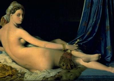 Ingres, Jean Auguste. A grande odalisca, 1814.