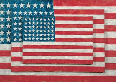 Johns, Jasper. Três bandeiras, 1958.
