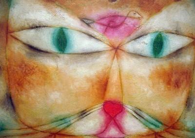 Klee, Paul. Gato e pássaro, 1928.