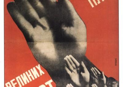 Klutsis, Gustave. Cartaz, 1917-19.