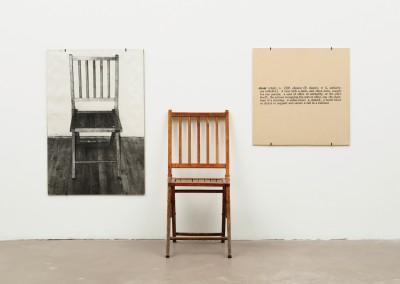 Kosuth, Joseph. Uma e três cadeiras, 1965.