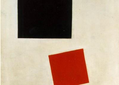 Malevich. Kazimir. Quadrado branco e vermelho, 1915.