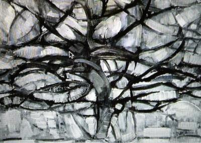 Mondrian, Piet. Árvore cinza, 1912