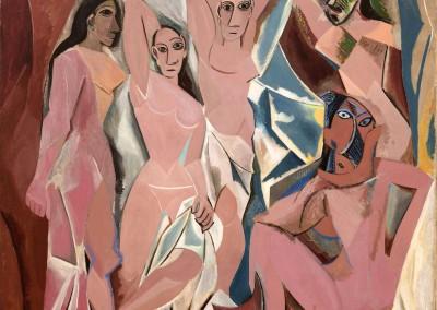 Picasso, Pablo. Les Demoiselles d'Avignon, 1907.