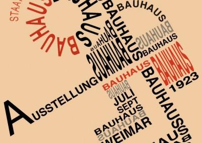 projeto gráfico Bauhaus, 1923.